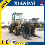 XD922E 1.8Ton Wood Grab loader (Log Loader crane trailer) with CE FOR SALE (alibaba express) made in china