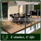 New WPC decking floor wood plastic composite materials for outdoor use