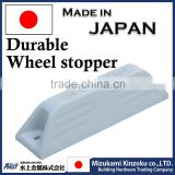 Car stopper made in Japan with excellent withstand load used at the parking lot to stop car wheels