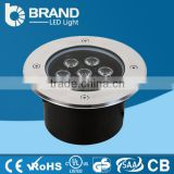 ISO9001 CE RoHS High Power Bridgelux Chips Meanwell Driver 12W Round LED Inground Light, 5 Years Warraty