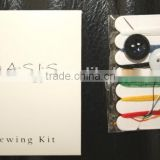 hotel sewing kit with thread,needle,button/portable sewing kit in carbon box /3-5 star hotel amenities