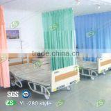 Hospital Waterproof flame retardant bed curtain track with pulley system