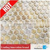 Hot selling silk screen printing process removable bathroom tile sticker for wall decoration