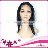 wendy product 100% handmade natural color straight style human brazilian hair lace front wig for african