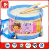 child like play toy oriental music instrument beaty 2 sides drum head and 2 sticks roundness wooden drum pad musical instruments