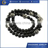 BNC016 Stainless steel skull jewelry handmade beads necklace                                                                         Quality Choice
