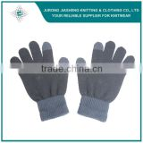 Black Color Custom Acrylic Knitted Gloves                                                                         Quality Choice