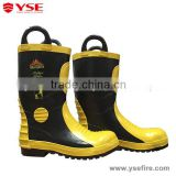 Artificial fire flame resistant boots ,en44 firefighting boots