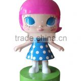 modern resin cartoon little girl garden statues