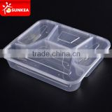 2 3 4 5 6 compartments clear disposable food lunch plastic box                                                                         Quality Choice