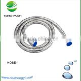 1.5m staniless steel bathroom shower hose brass core and brass nut connect faucet for kitchen hosing series stainless steel hose