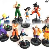 5-6cm Promotional action figures 10pcs per set anime toy figure custom plastic anime action figure maker