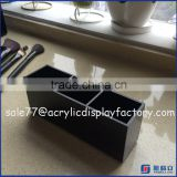 Wholesale black acrylic makeup brush holder for dryer and organizer
