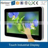 32 inch lcd touch screen monitor for multi- media input,wall mounted usb powered touch screen monitor for interactive system