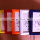 Wholesale thick colorful funia standing PVC plastic picture photo frame for school children gift