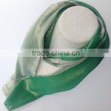 Holiday Gift Double Sided Bright Green Long Silk Sparkle Scarf