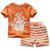 baby toddler orange clothing gift set stripe short wholesale fashion products summer kid wear set