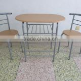 Dining room furniture breakfast MDF panel type metal dining table set couple table set
