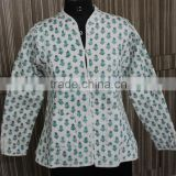Jaipuri Vintage Cotton Kantha Cloth Jacket Reversible Indian Handmade Kantha Quilted Jackets Long Vests