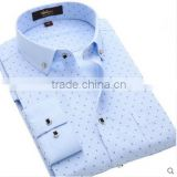 Chinese manufacturers supply woven apparel yarn dyed cotton formal dress men latest design shirts