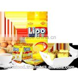 Best Sale Cookies Biscuit Snack LIPO 135g Cream Egg Coasted Bread for Canada, America, Mexico, Cuba