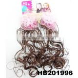 cute baby kids human hair wig with silk flower