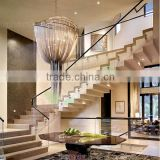 frameless tempered glass railings by standoffs side installation glass balustrades for staircase