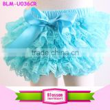 Baby Girls blue Lace cute Panties Ruffles Bloomers Diaper Covers Baby Bloomers baby cheap clothes