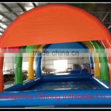 commercial adult inflatable swimming pool rental with dome tent cover, Inflatable pool with sunshade