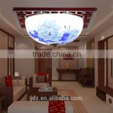 modern vintage porcelain chandelier ceramic wood celling light
