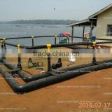 HDPE floating net cage farms