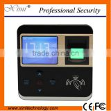 Linux system biometric time attendance 13.56MHz card color screen door lock fingerprint access control