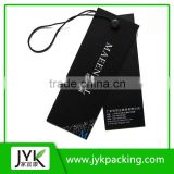 Hangtag Label Design with Rope and Pin/loss Finished Hangtag Label Design /loss laminated Paper Tag with custom string