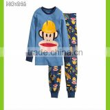baby clothes kids cheap pajamas children long sleeve pyjamas cartoon monkey printed sleepwear OEM&ODM