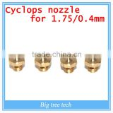 2016 China 3D Printer Cyclops Multi-Extrusion Multi-Color Hotend 1.75mm Filament 2in-1 Out Cyclops extruder 0.4mm Nozzle
