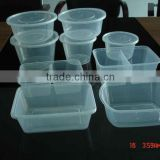 PP Microwaveable disposable food container box/takeaway plastic lunch food boxes from China