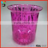 Celebrating Beautiful Decoration Aboral Design Handmade Color Glass Tint Candle Holder