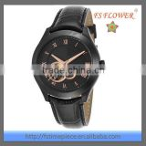 Black Watch Case Japan Automatic Mechanical Movement Luxury Watches For Men