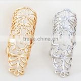 Top Quality Long Hollow knuckle ring for women