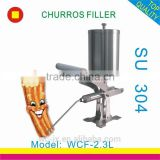 manual nutella dispenser churro filler machine/ice cream filling machine/hot chocolate jam filling machine