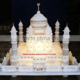 White Marble Taj Mahal Model Taj Mahal Replica, Home Decorative Marble Taj Mahal Replica Gift Product