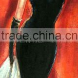 Wholesale cheap china semi-nude sexy hot woman canvas oil paintings