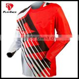 Custom Bicycle BMX Racing Jerseys DH Clonthing Long Sleeves Mountain Bike T Shirts Red