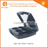 Plastic Black Makeup Empty 4 pan Eyeshadow Packaging