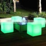 2015 hot sales LED cube stool / LED Cube chair / LED indoor plastic furniture for bar nightclub decoration