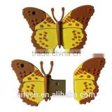 Favorites Compare Butterfly Shape 3d cartoon usb flash drive ,beautiful animal usb memory