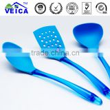 2016 Top Fashion Rushed Plastic Ce / Eu Colher De Oil Spray 3pcs High-temperature Blue Nylon Kitchen Utensils Transparent Handle