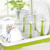 Kitchen Sink Dish Cup Utensil Drainer Drying Rack Holder Basket Organizer Tray