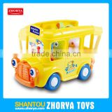 high quality kids toys vehicle cute cartoon electric school bus toys