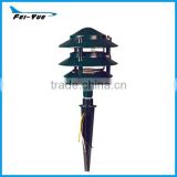 Black Finish Pagoda Garden Pathway Lamp Lighting Fixture